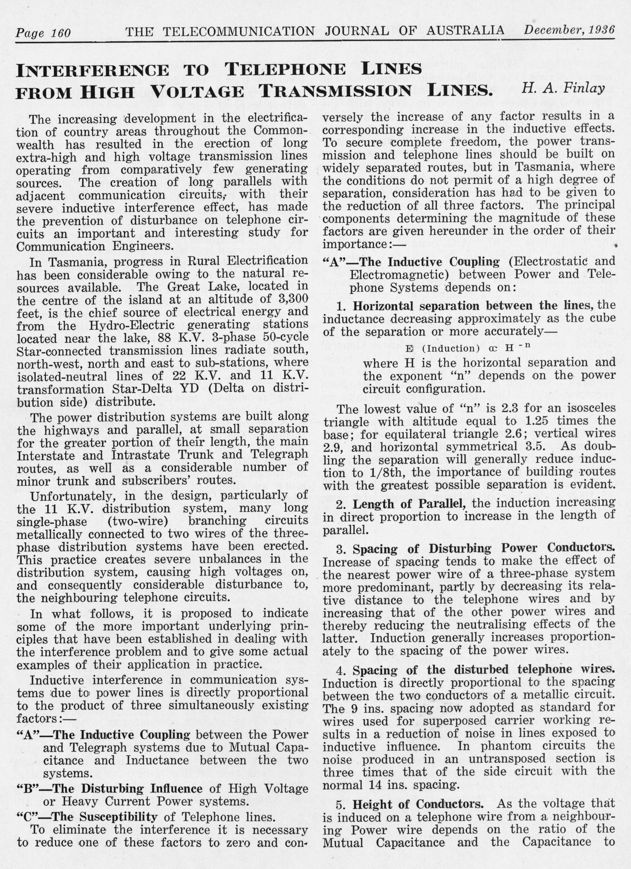 Page one of historical paper