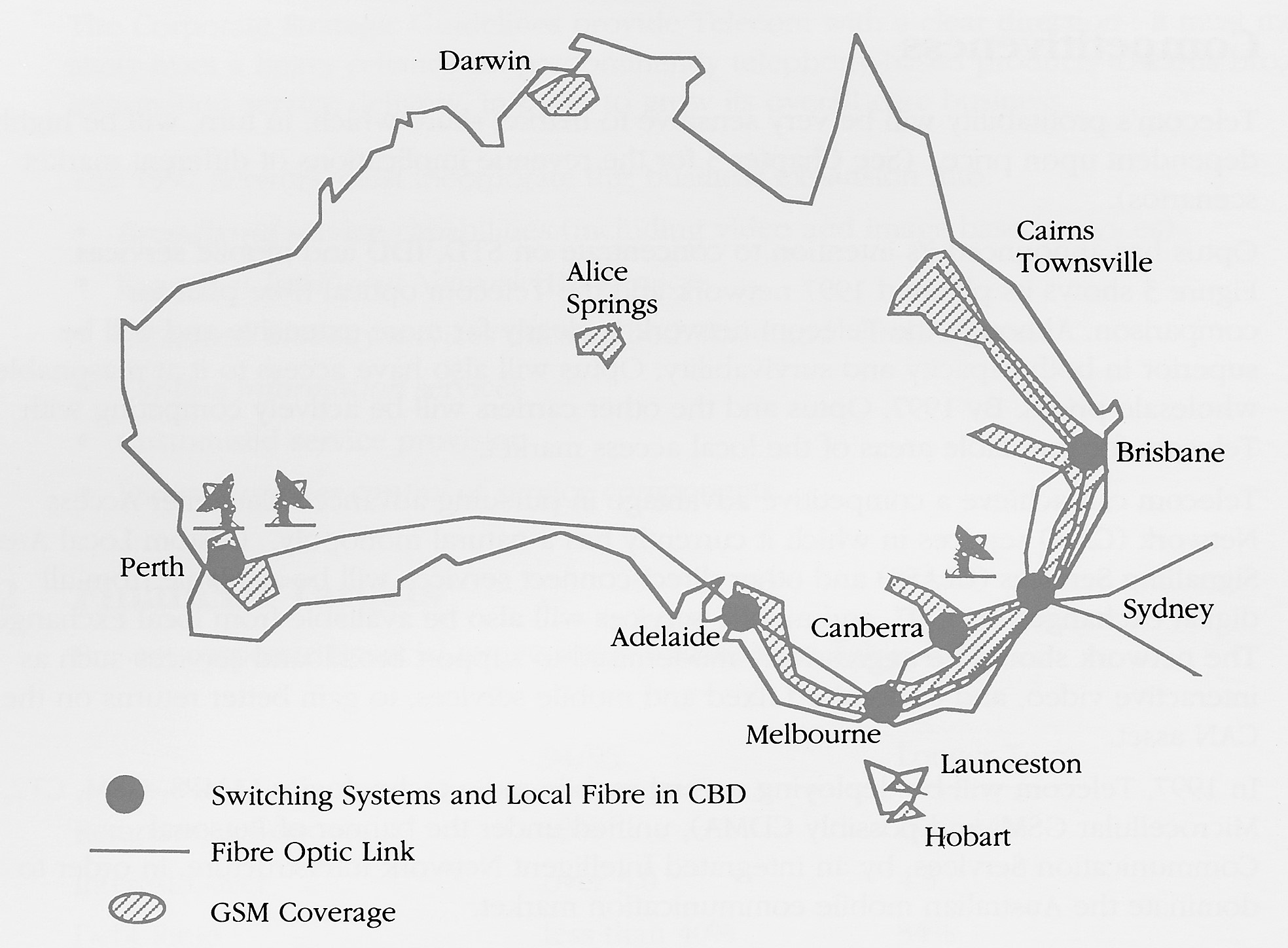 Figure 8. AOTC's predicted Optus deployment in 1997