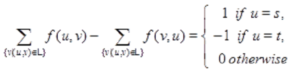 Flow conservation rule equation