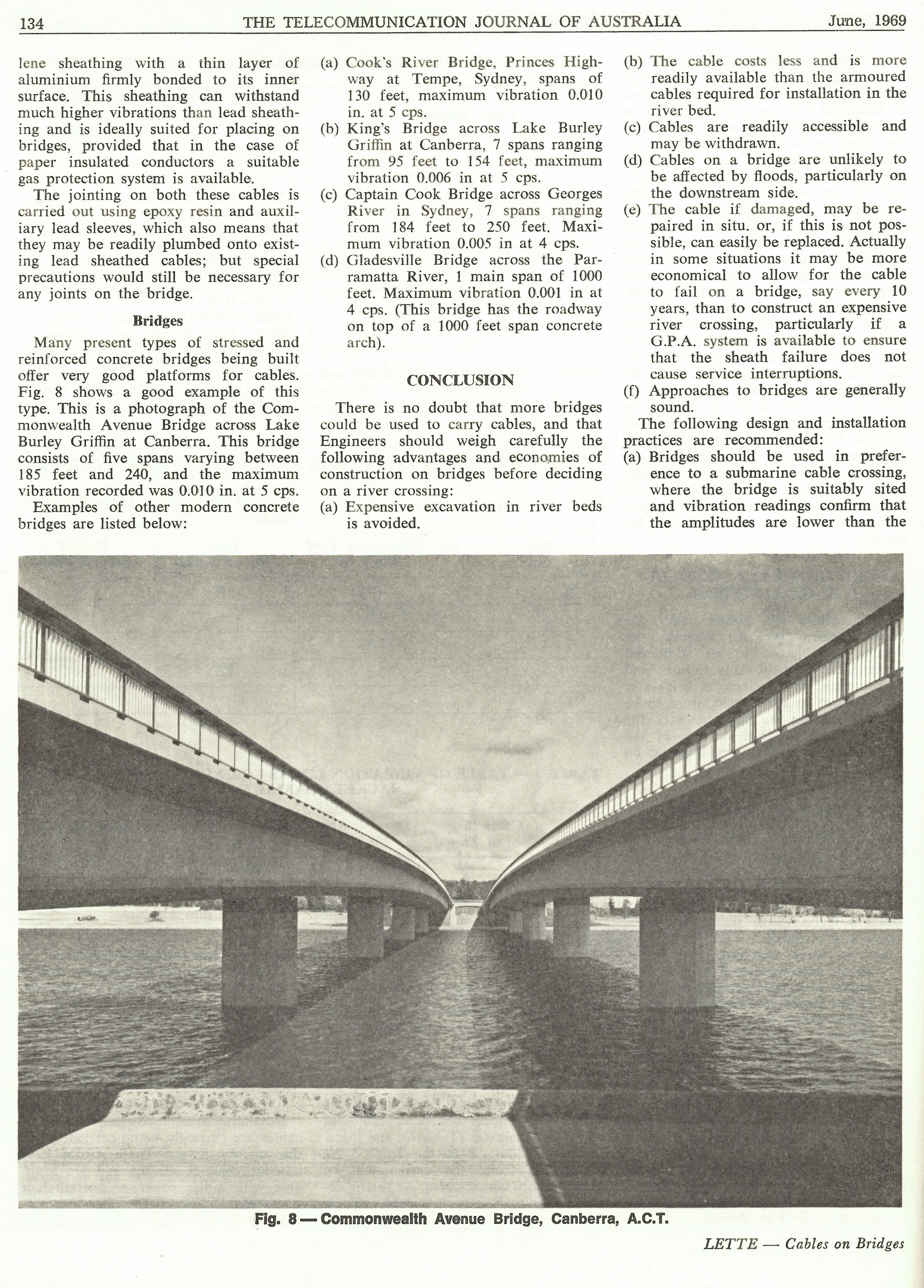 Lead Sheathed Cables on Bridges, Page 134