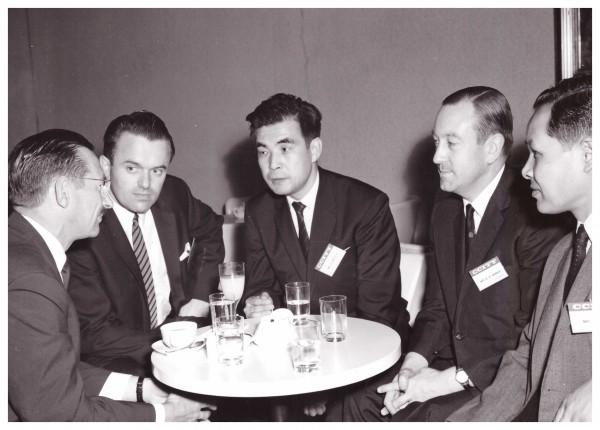 Chairing CCITT group meeting, Tokyo 1967