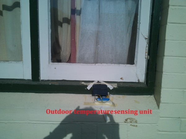 Figure 7. Outdoor sensing unit for outside temperature measurement