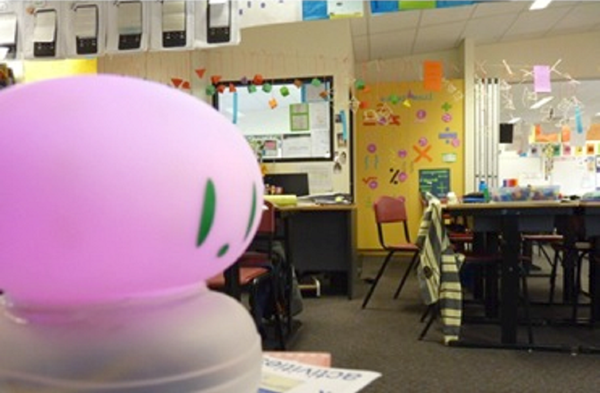 Figure 1 - Ambient orb in a classroom