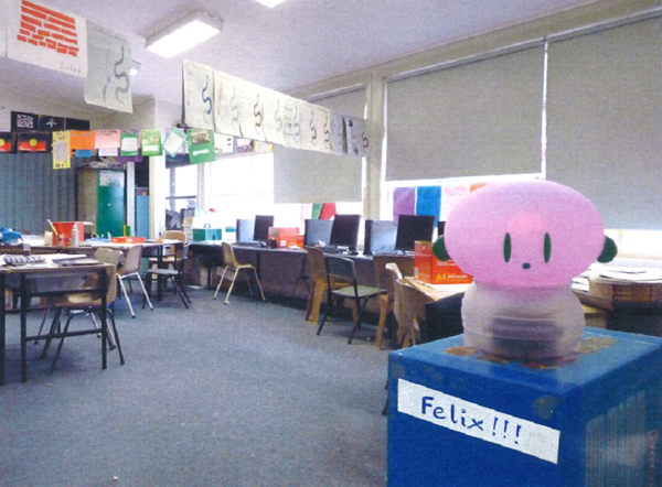 Figure 2 - Personalised labelling of the orb in Felix's classroom