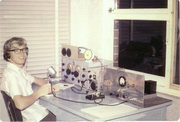"""A typical """"home brew"""" Amateur Radio station from the 1960's"""