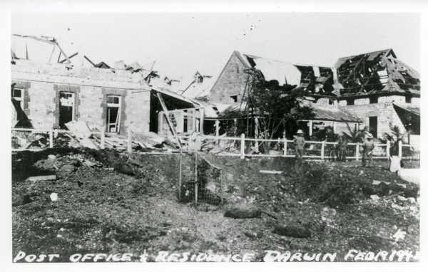 Post Office and Postmaster?s residence after the first air raid