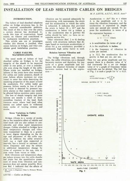 Lead Sheathed Cables on Bridges, Page 127