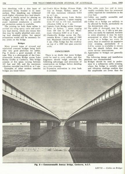 Lead Sheathed Cables on Bridges, Page 134
