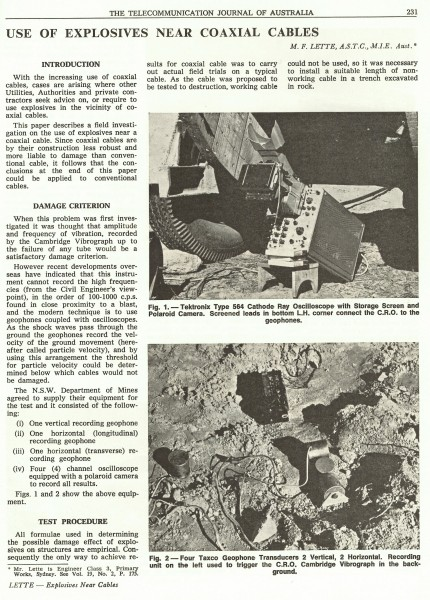 Explosives Near Cables, Page 231