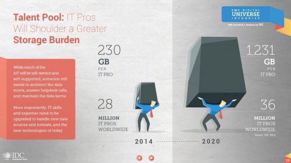 Fig. 2 Trend in IT storage per IT worker