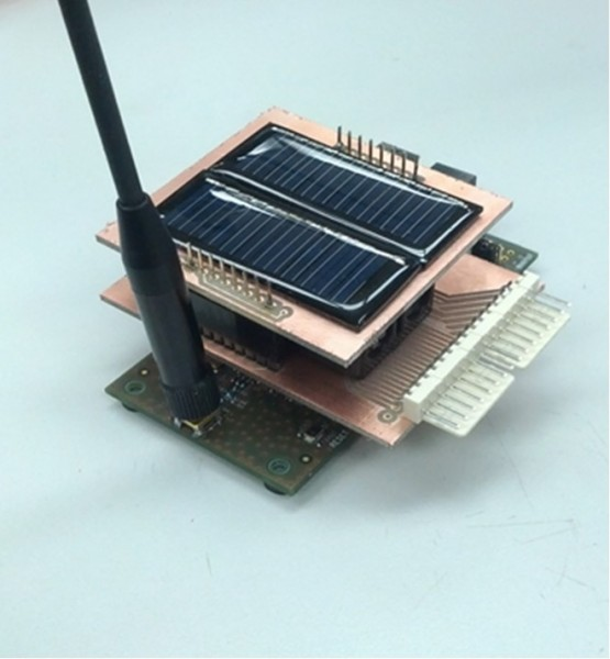 Figure 8: Proof of concept solar IoT node.