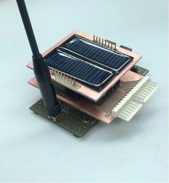 Proof of concept solar IoT node.